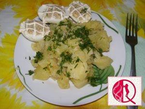 İçi doldurulumuş yumurta salatı (foto resept)