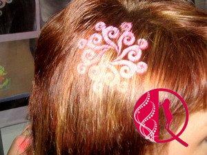 Saçlara şəkil döydürülməsi