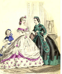 XIX əsr Avropa xanımlarının modası