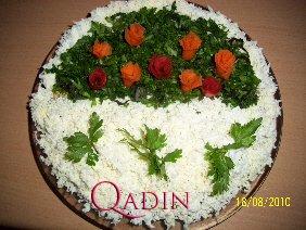 Zənbil görnüşlü salat (foto resept)