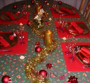 Yeni il s fr si dekorasiyalar s hif 3 qadin net - Deco table noel rouge et or ...
