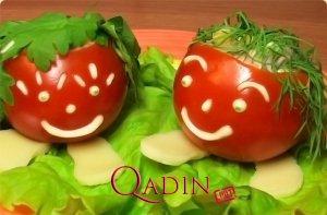 """""""Şən uşaqlar"""" - içlikli pomidorlar (foto resept)"""