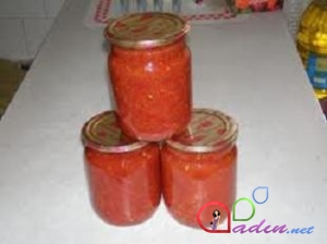 Acılı pomidor sousu (foto resept)
