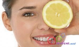 Yağlı dərilər üçün limon maskası