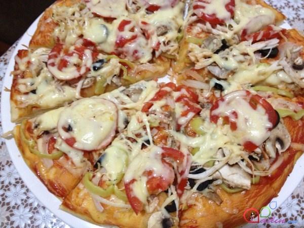 Gobələkli Toyuqlu Pizza Foto Resept Qadin Net Ilk Milli