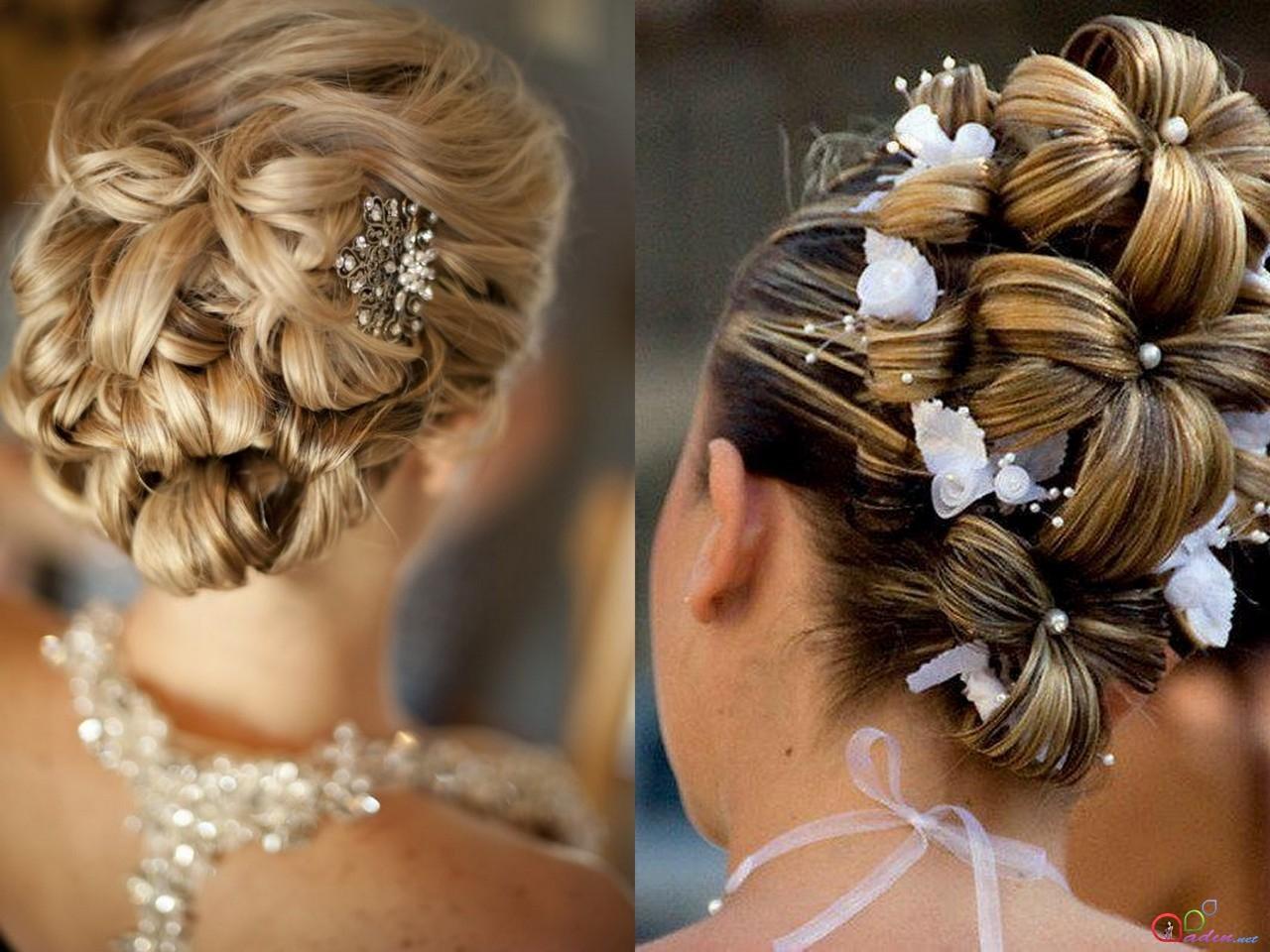 Прически на длинные волосы на свадьбу к подруге фото пошагово