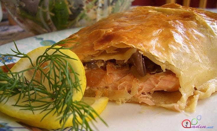 Рыба в слоеном тесте запеченная в духовке рецепт