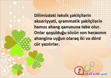 Sözün tərkibi və söz yaradıcılığı - 1
