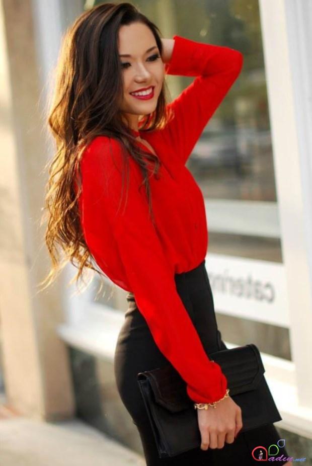 Красная Юбка И Черная Блузка Доставка