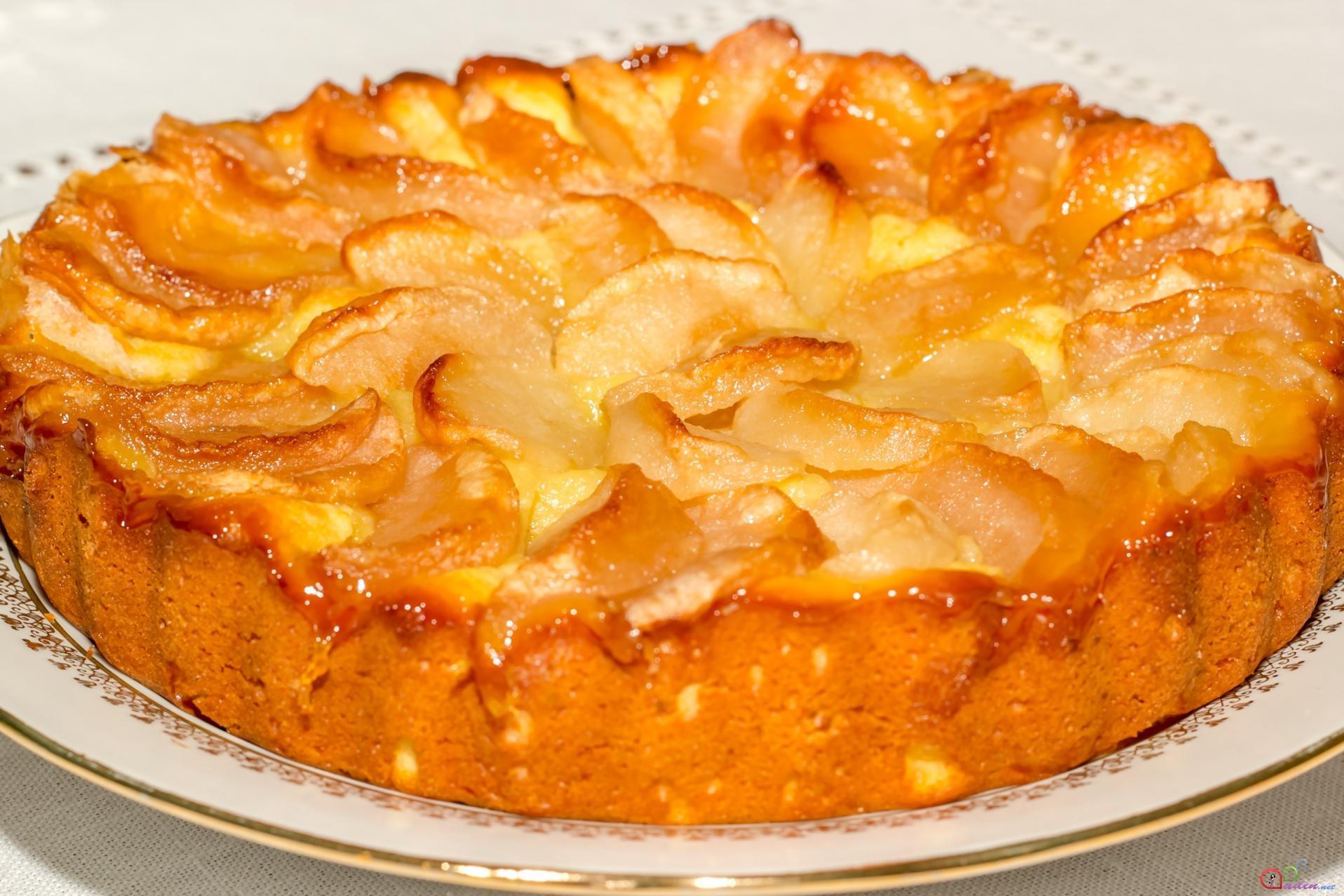 Пирог с творогом и яблоками в духовке рецепт на кефире