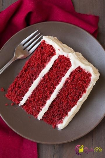 Qırmızı kadife tort (foto resept)