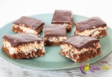 Hindistan qozlu şokoladlı tort (foto resept)
