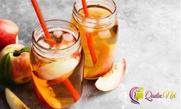 Buzlu şaftalı çayı (foto-resept)