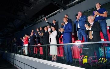 Prezident və xanımı açılış mərasimində - FOTO
